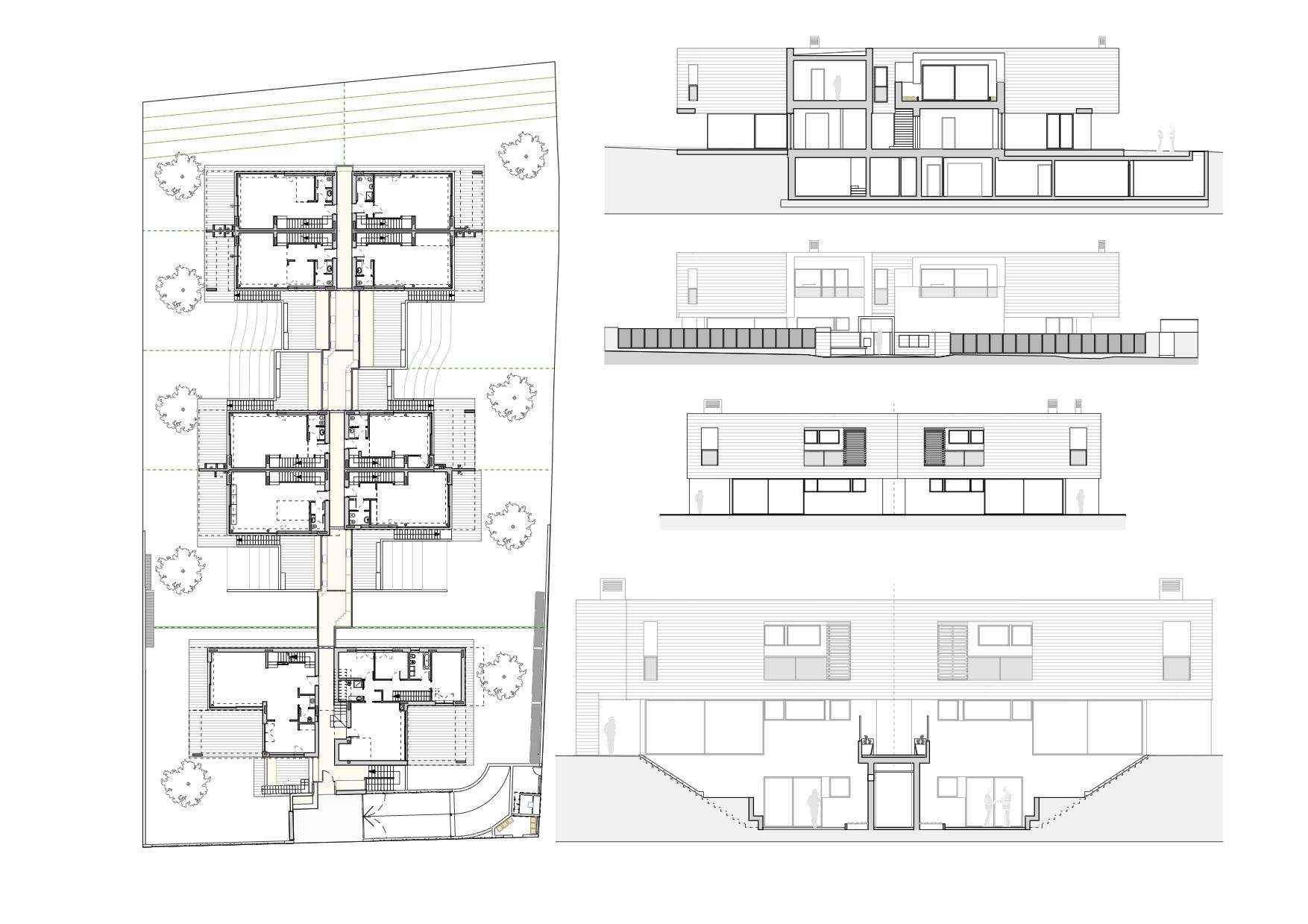 """Opera menzionata - Premio Architetti Verona 2017 - il progetto """"I Cubi"""" alle Ferrazze i-cubi-_-planimetrie-e-prospetti-_-abw-ferrazze-verona-"""