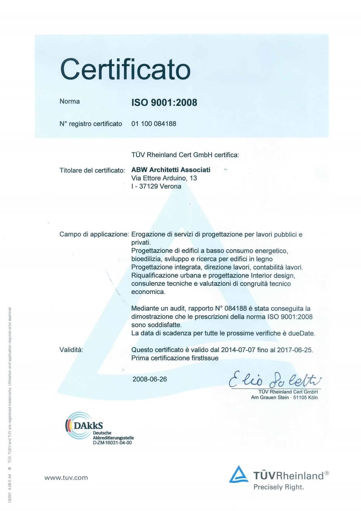 CERTIFICAZIONE certificato